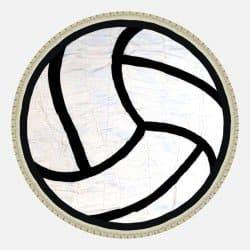 Drap de Plage Ballon de Volley 150 cm 100% Viscose