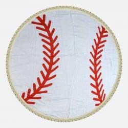 Drap de Plage Balle de Baseball 150 cm 100% Viscose