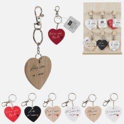 Porte-clés coeur mots...