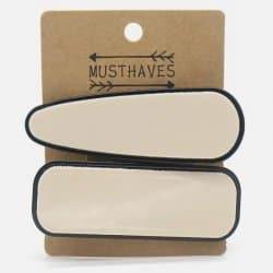 Pack de 2 Barrettes à Cheveux Ovale et Rectangle
