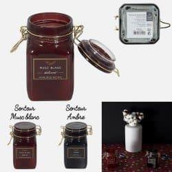 Bougie Apothicaire Pot à Clip parfumée Musc Et Ambre H12cm