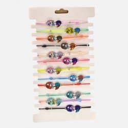 Pack de 12 Bracelets Elastique Sirène Colorés