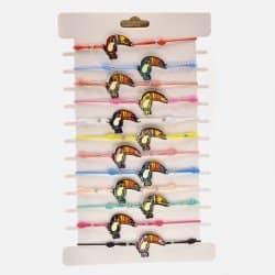 Pack de 12 Bracelets Élastique Pélican Colorés