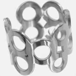 Bague Acier Inoxydable Multiples Cercles