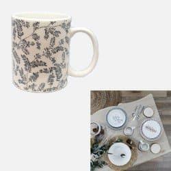 Mug cottage porcelaine gris...